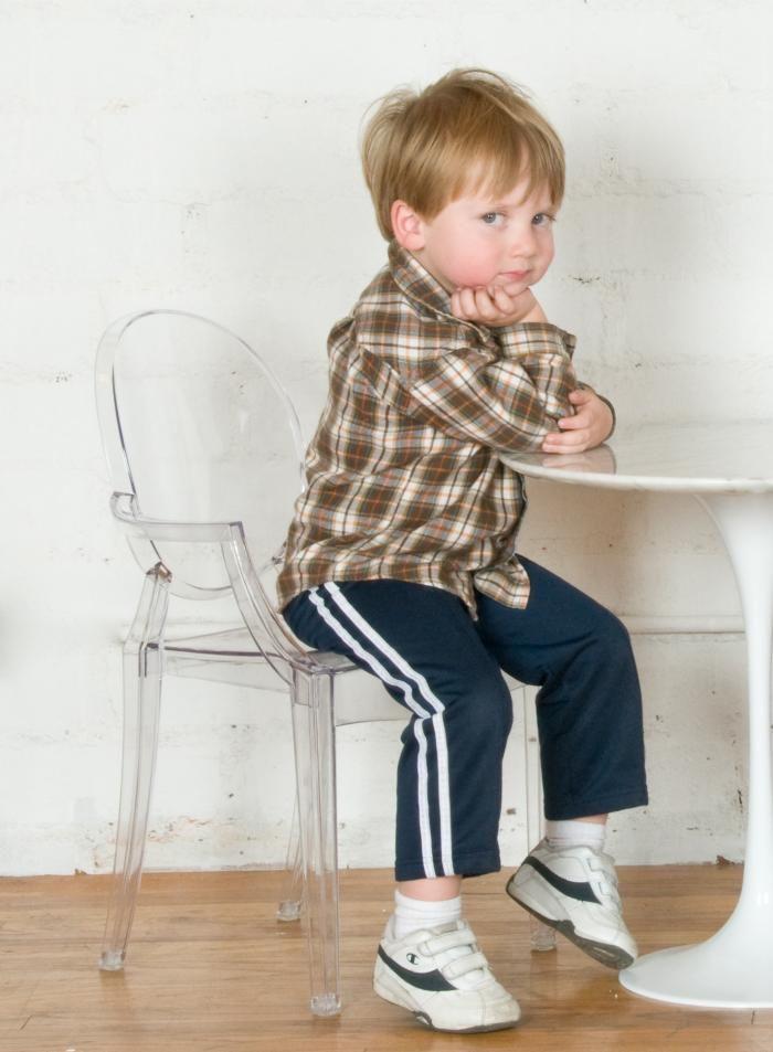 Kids Acrylic Louis Style Chair $75