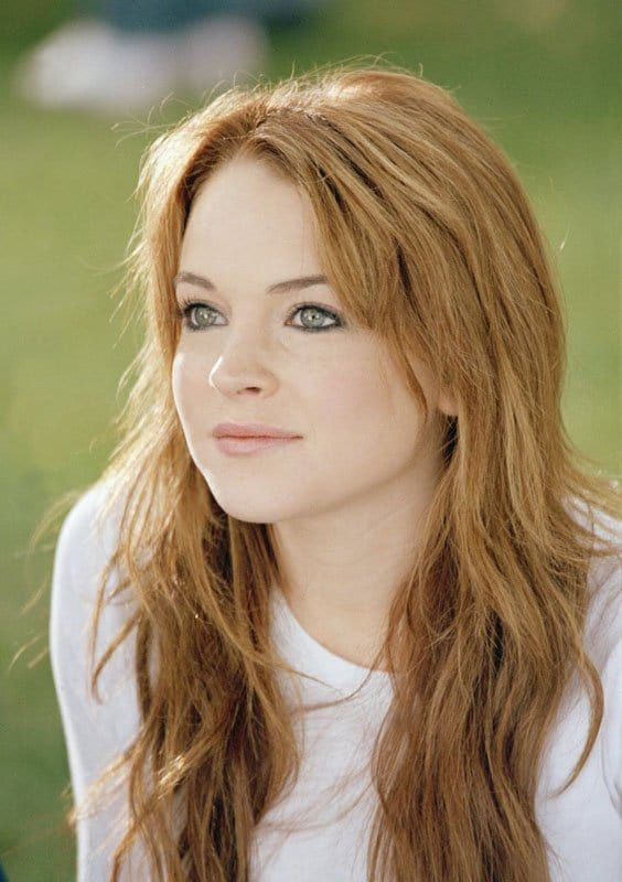 Picture Of Lindsay Lohan Blonde Highlights Pretty Hairstyles