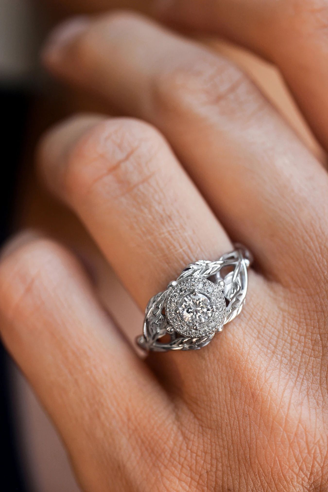 Nature inspired engagement rings with diamonds in 2020
