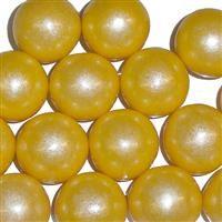 Yellow shimmer gum balls.....dessert-scape worthy