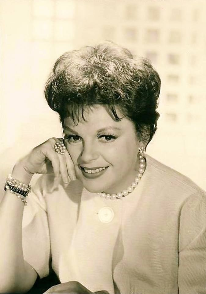 Judy Garland glamour portrait in 1962