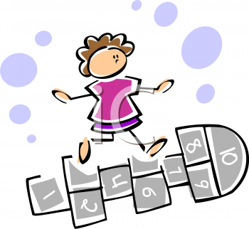 children at play clip art clipart of a child playing hopscotch rh pinterest com au toddler learning clipart
