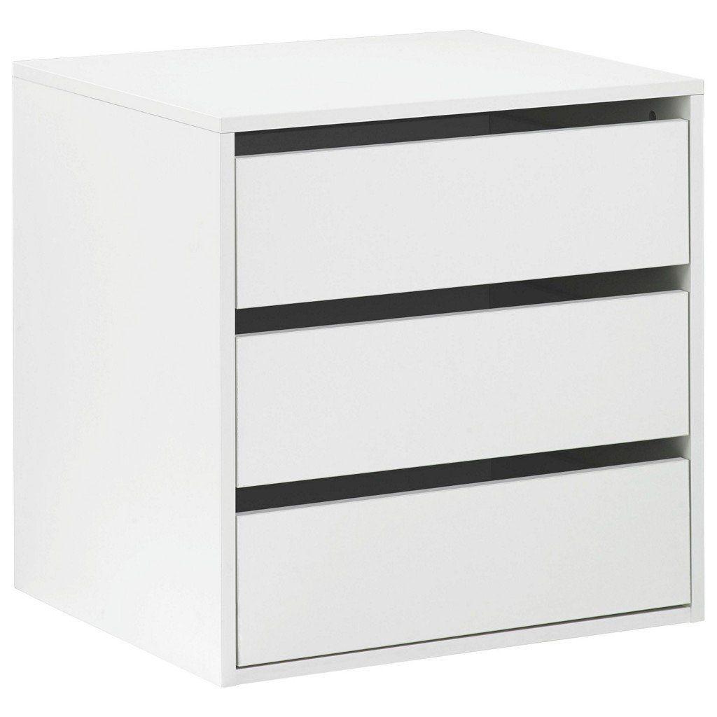 Cassettiera interna armadio 3 cassetti accessorio legno bianco ...