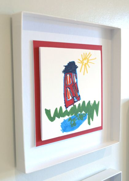 Box Lid Frames - great way to display kids artwork (& recycle some ...