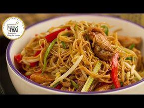 Chow Mien De Pollo (Fideos Fritos Estilo Chino) | Cocino Thai