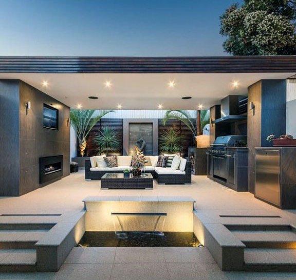 Top 70 Best Modern Patio Ideas Contemporary Outdoor Designs Modern Small House Design Modern Outdoor Kitchen Small House Design Architecture