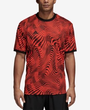 adidas Men's Tango ClimaLite Printed T Shirt Red XL