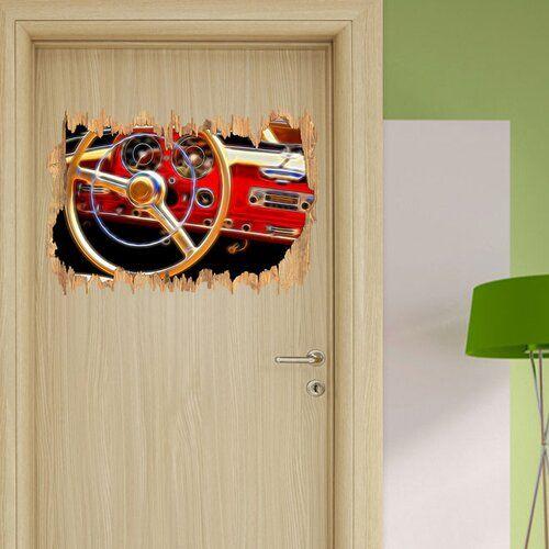 Home Loft Concept Elegant Classic Car Steering Wheel Wall Sticker   Wayfair.co.uk