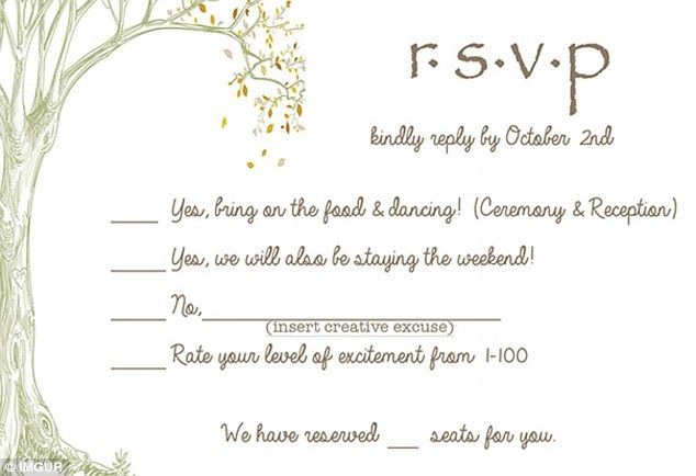 A Couple Have Sent The Best Wedding Rsvp Card Ever Rsvp Wedding