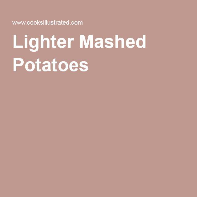 Lighter Mashed Potatoes