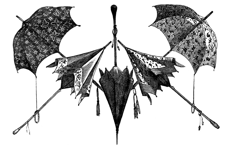 Black White Umbrellas Clip Art Umbrella Vintage Umbrella Umbrella Art
