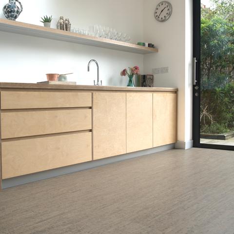 Cork kitchen flooring with a modern twist flooring