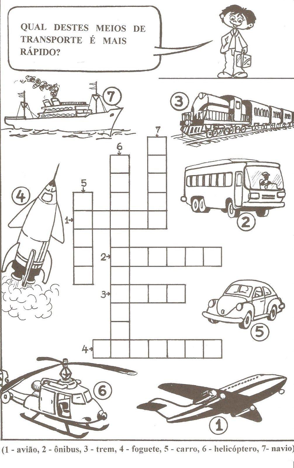 50 Atividades Com Meios De Transporte Para Imprimir Atividades