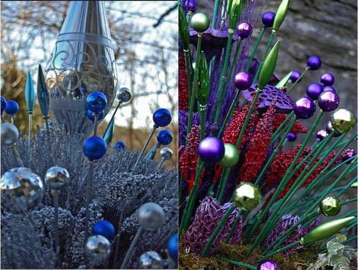 DIY Christmas Ornament Garden Stakes | Garden ornaments ...