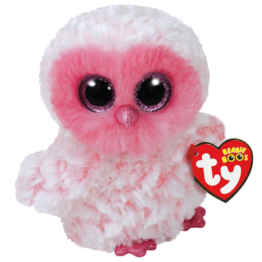 Ty Beanie Boos Pink Owl Regular in 2020 Ty stuffed