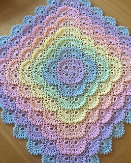 PinkLimeCrafts' Fluffy meringue #babyblanket