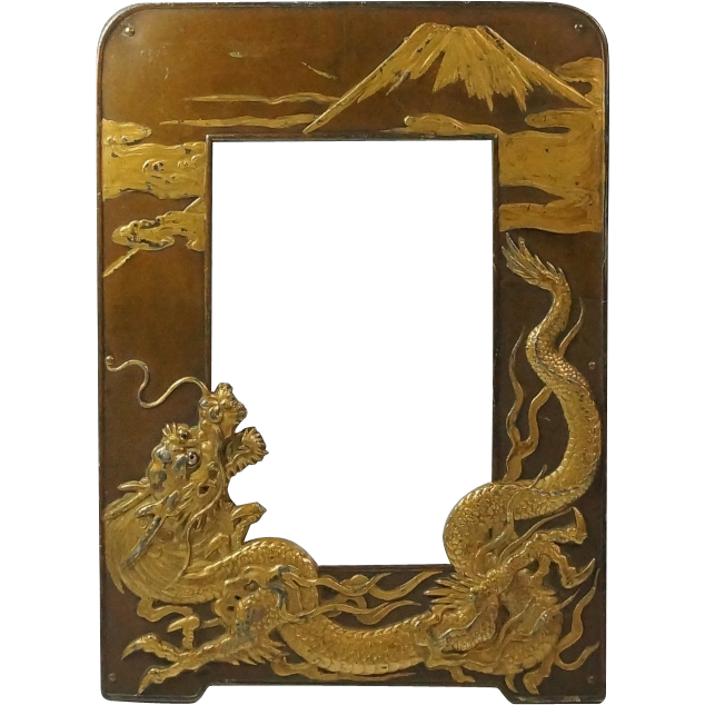 Stunning Antique 19th Century Japanese Dragon Photograph Picture ...