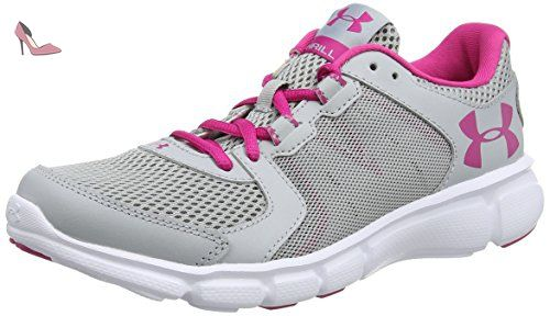 Under Armour UA W Micro G Assert 6, Chaussures de Course Femme - Gris - Grau (STL/ANF/MSV 35), 42 EU