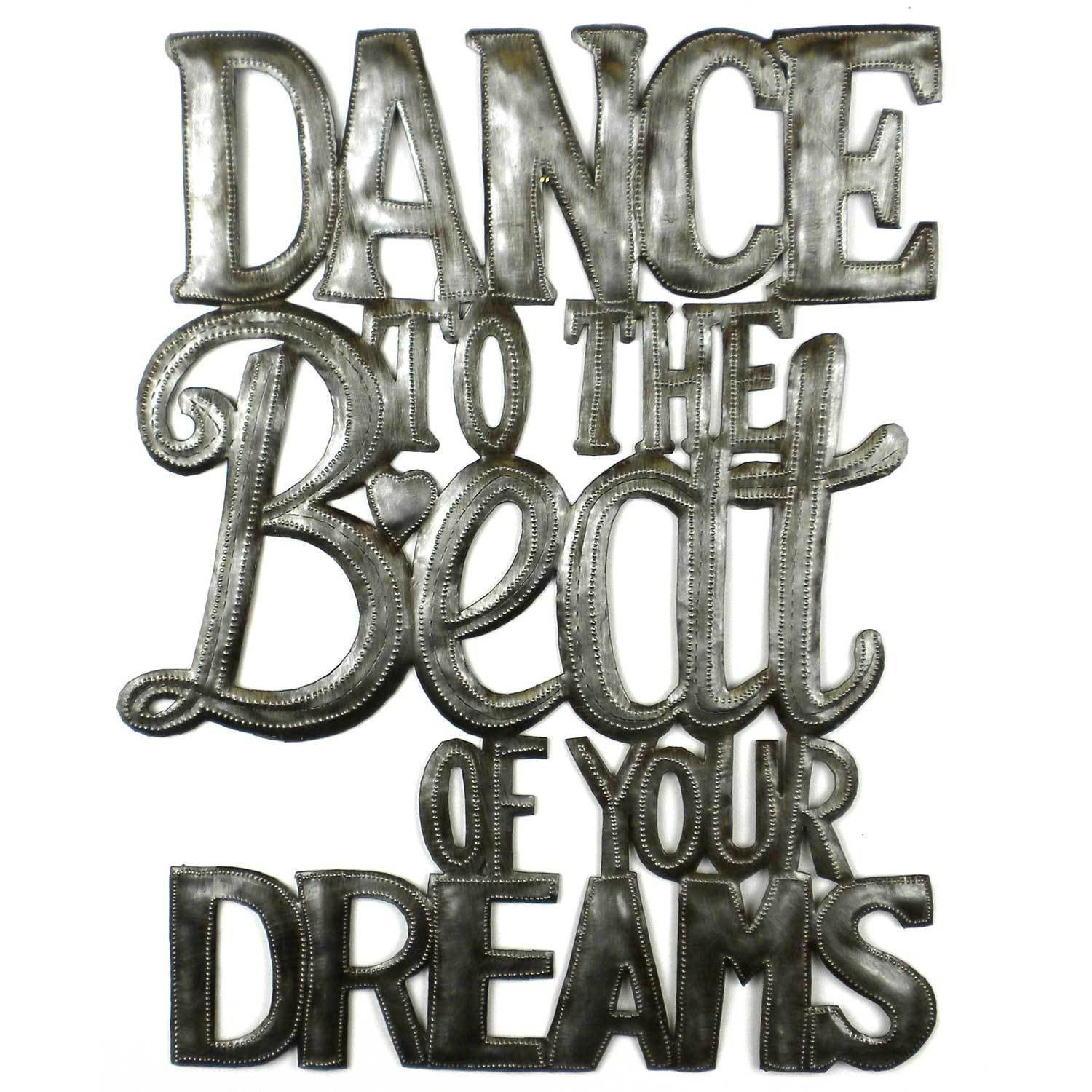 Dance to the beat of your dreams haitian metal wall art metal
