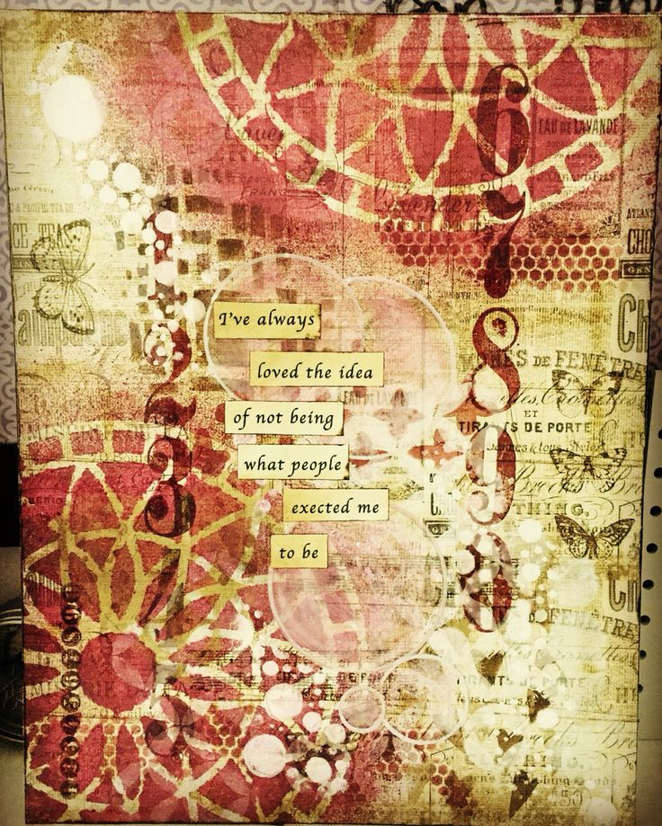 I've always loved the idea of not being what people expected me to be.  #hollyberrydesign #mixedmediaart