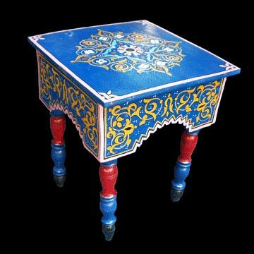 hand painted Moroccan table   Moroccan furniture, Hand ...