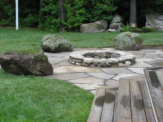 Field Stone Fire Pit Designs Another Back Yard Oasis Central Eastern Massachusetts Landscape Outdoor Fire Pit Area Outdoor Fire Pit Garden Fire Pit