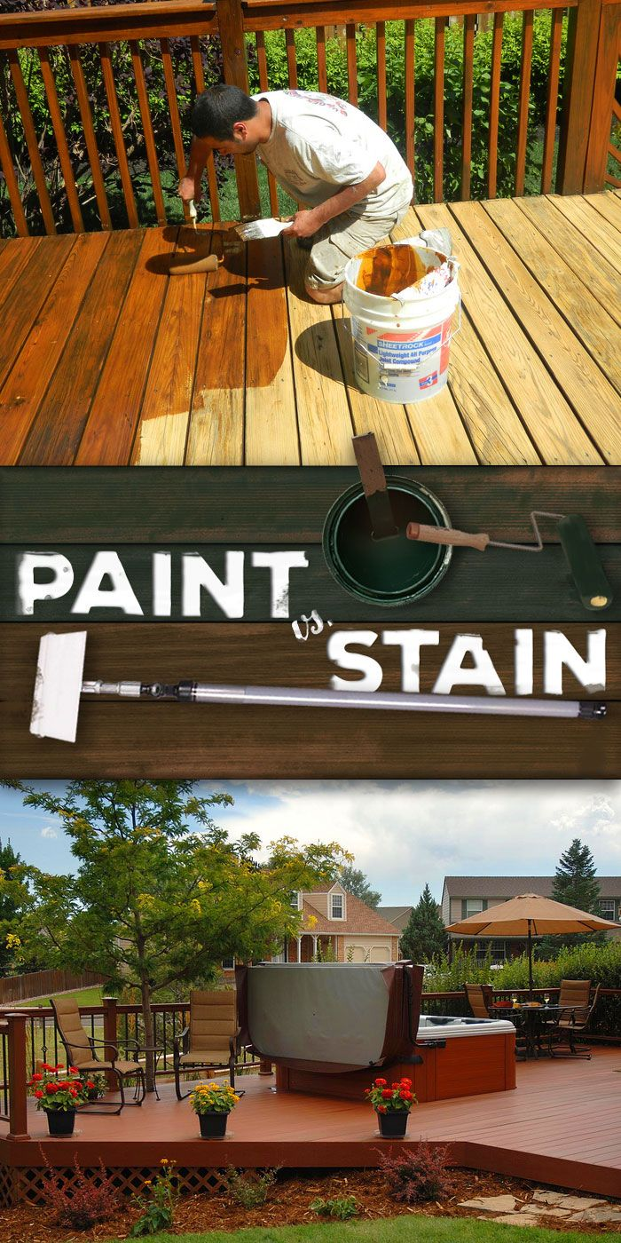 Ultimate Paint Vs Stain Showdown Deck Style Diy Deck Staining Deck Deck Stain Colors