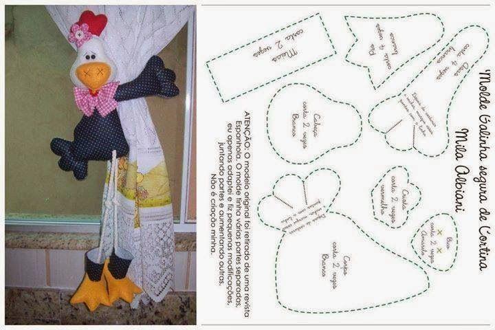 Pin de Begoña Marin en sujeta cortinas | Pinterest | Sewing, Chicken ...