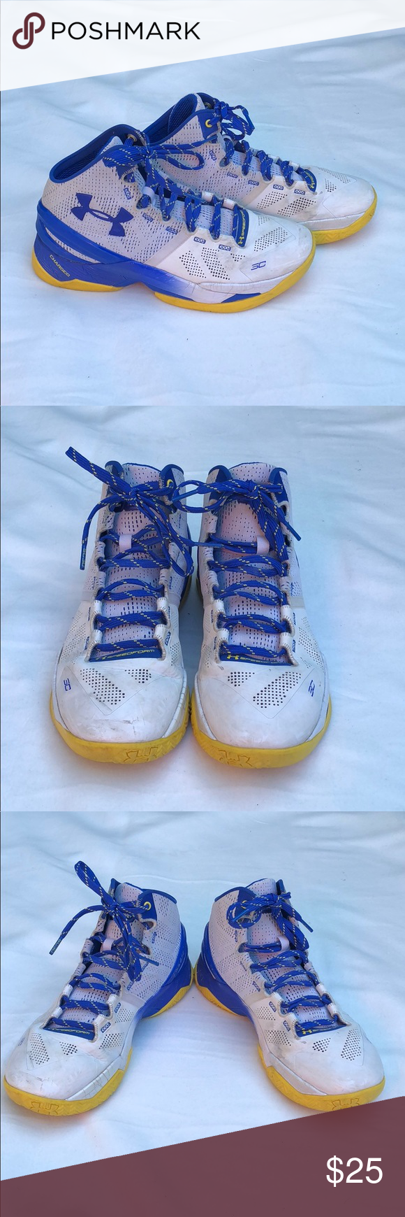 """brand new 429a2 3c68c Under Armour Curry 2 """"Dub Nation Home"""" Size 8.5 Used in good ..."""