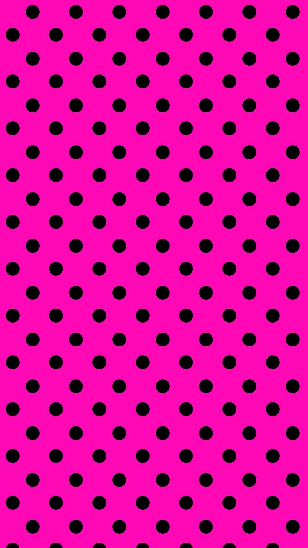 Polkadot Pink Iphone Wallpaper Iphonewallpapers Pinterest