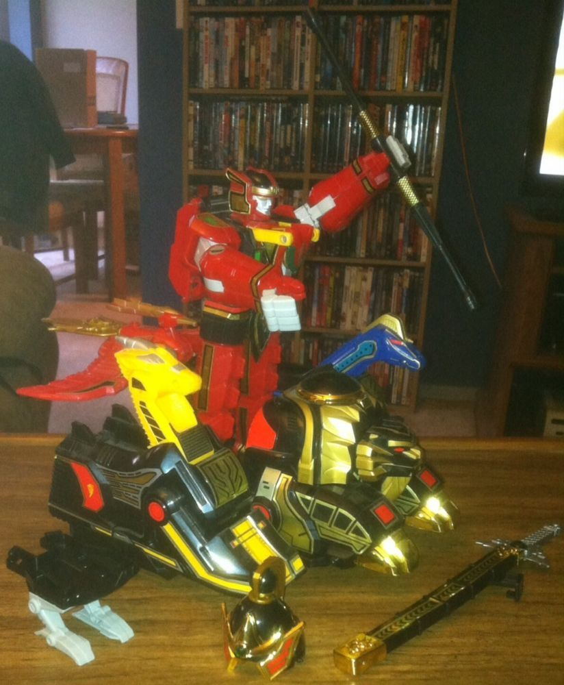 Mighty Morphin Power Rangers Bandai 1994 Megazord complete post-movie #Bandai