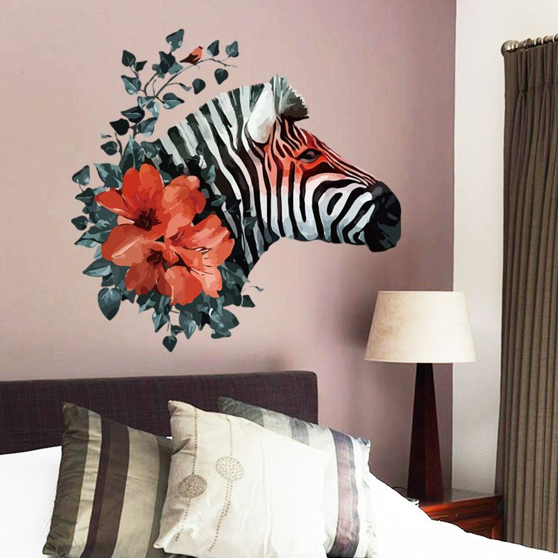 1Pcs 50*70cm Butterfly Zebra Wall Sticker Decoration For Home Room Decor  Diy Wall Decals