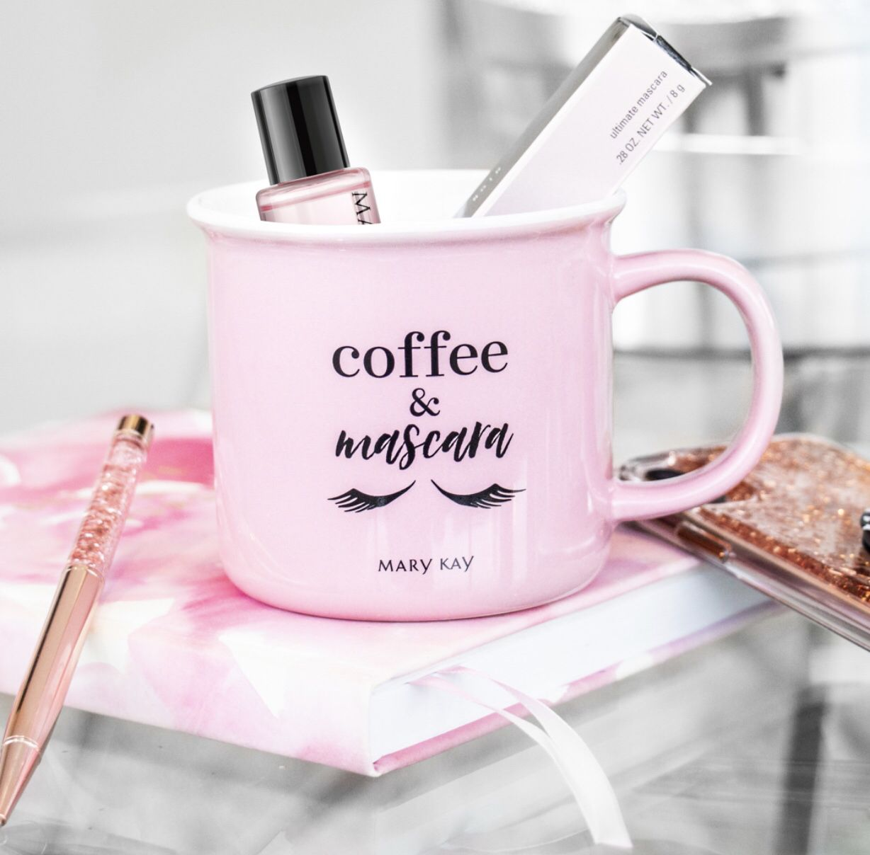 How adorable is this mug with a deluxe sample of our oil