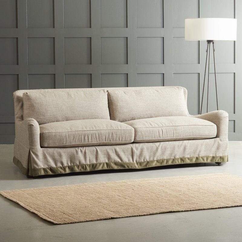Arly Sofa With Trim With Images Sofa Slipcovered Sofa Best Sofa