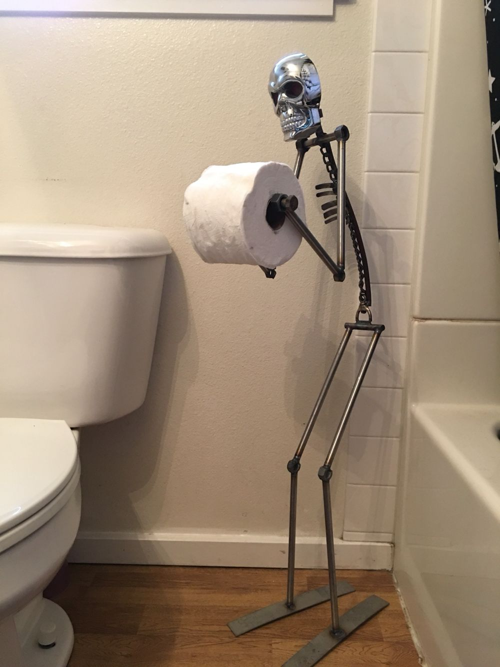 ...awesome TP holder by Crews Rd Werks in Gilroy CA. Gotta get one for the man cave. #mancave