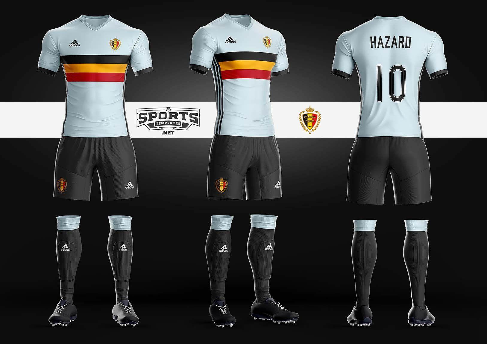 Football uniform mockup template