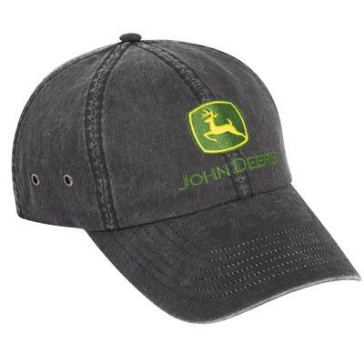 John Deere Gray Leather Look Cap – GreenToys4u.com  b5b125846ba