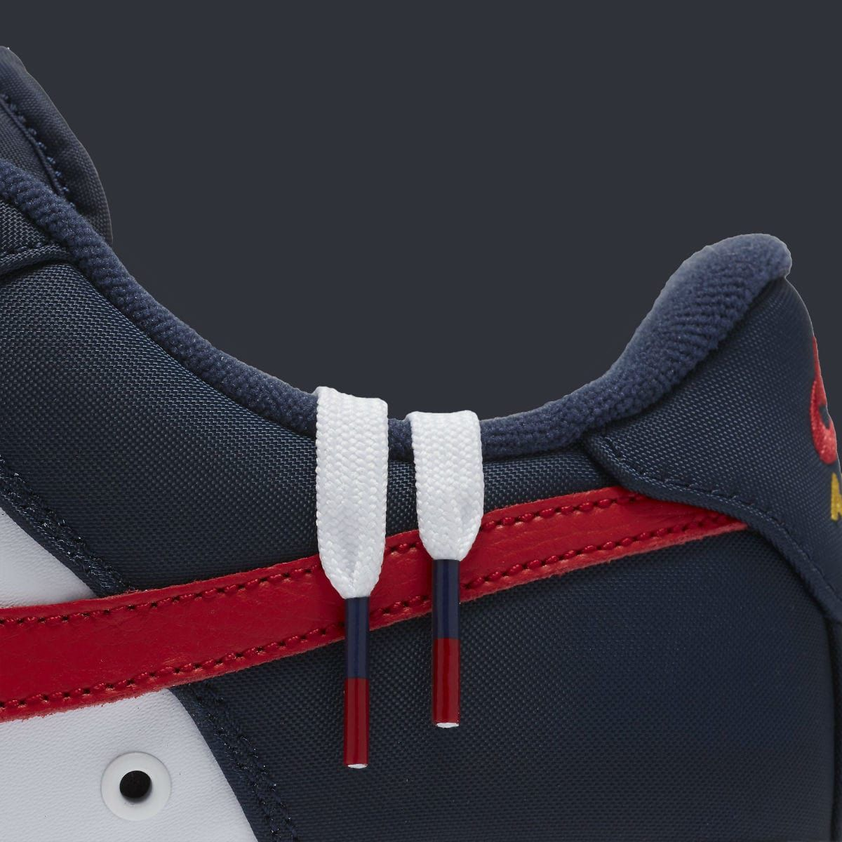 Nike Air Force 1 Low Mini Swoosh USA Release Date Laces 823511-601
