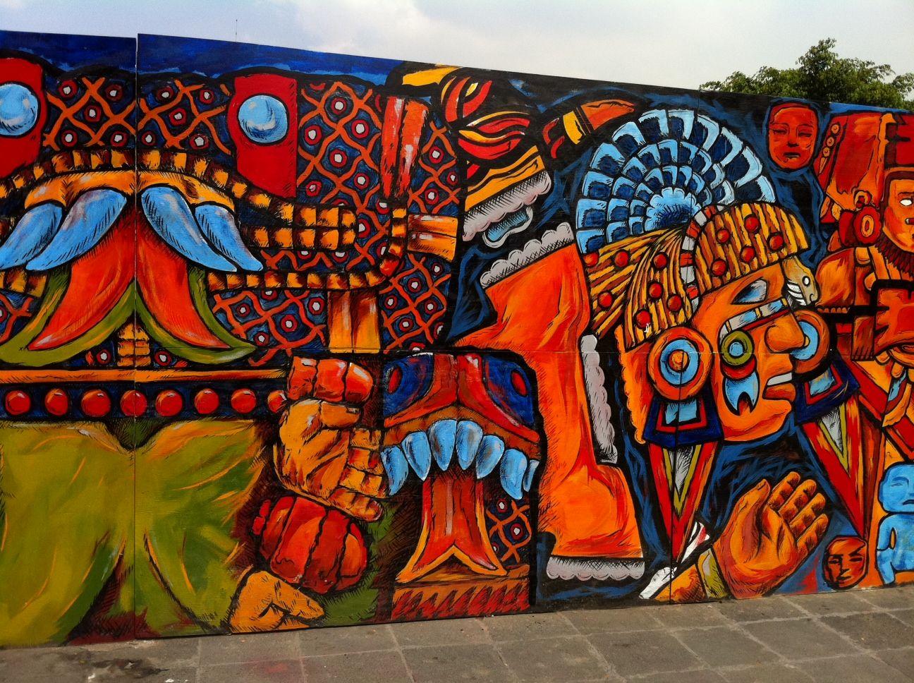 La ciudaddemexico es una de las metr polis m s coloridas for Arte mural mexicano