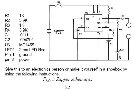 Original Dr Hulda Clark's schematic zapper with detailed component  explanations.