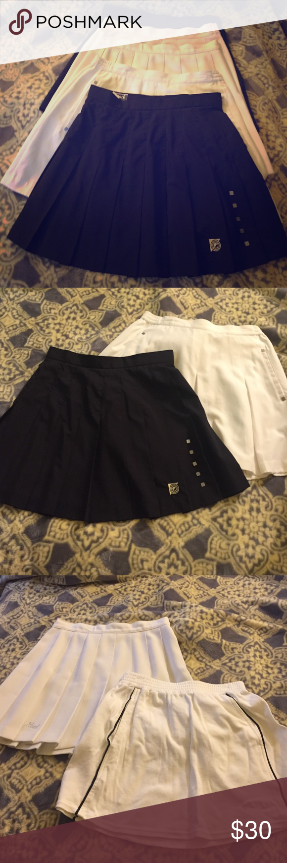 Bundle of 6 Tennis Skirts 2 Jamie Saddock 2 Cutt & Bucker 1 Head and 1 Kaim. Only damage is on the back of the white Cutt & Bucker otherwise in very good condition. Cutter & Buck Skirts Skirt Sets