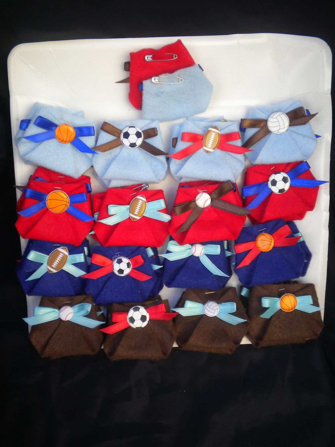 48pc Dirty Diaper Game Baby Shower Sport Theme All Star