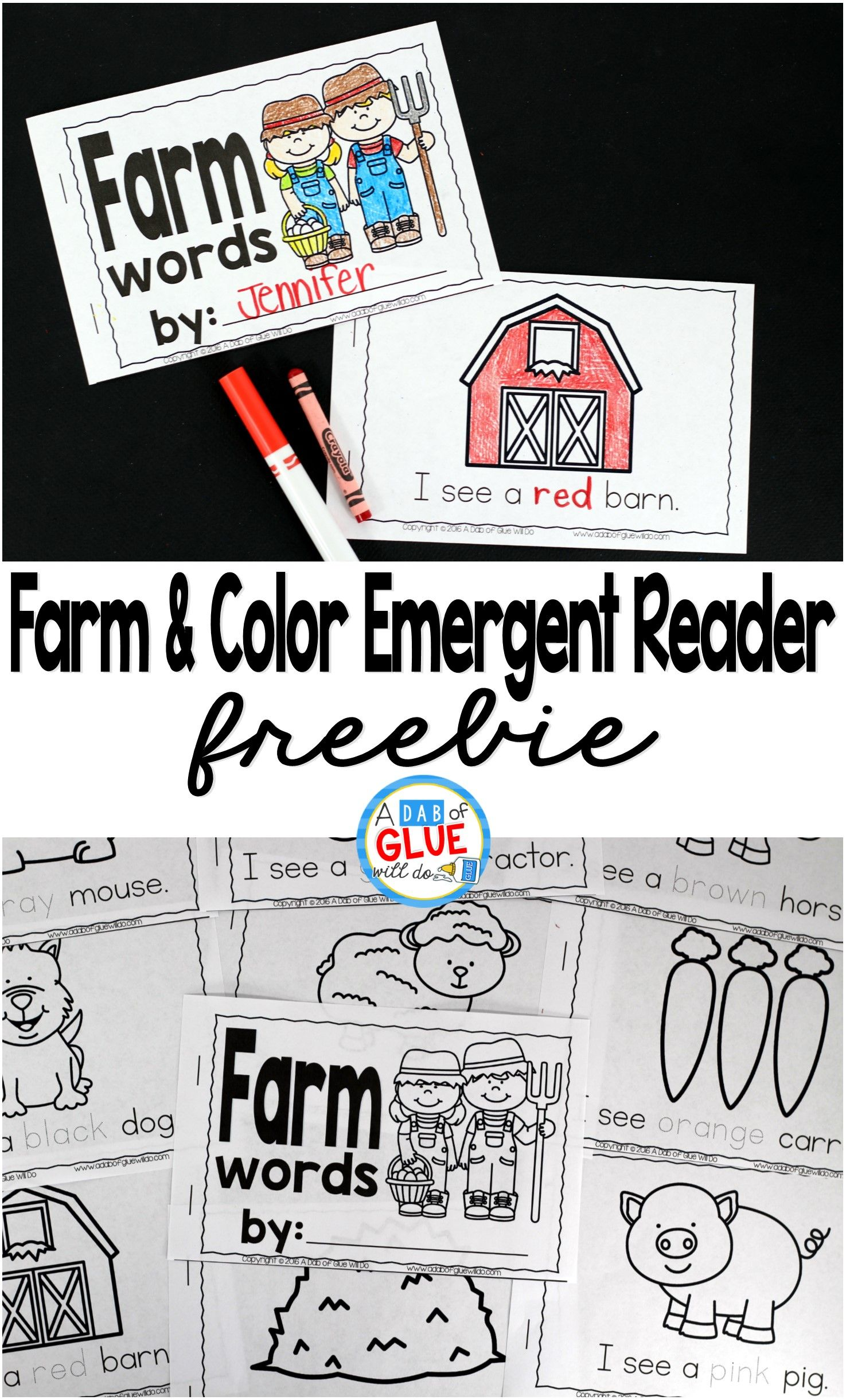 Farm And Color Emergent Reader