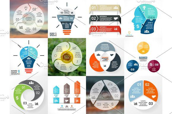 3 Steps Infographics Set Infographics Infographic Templates And
