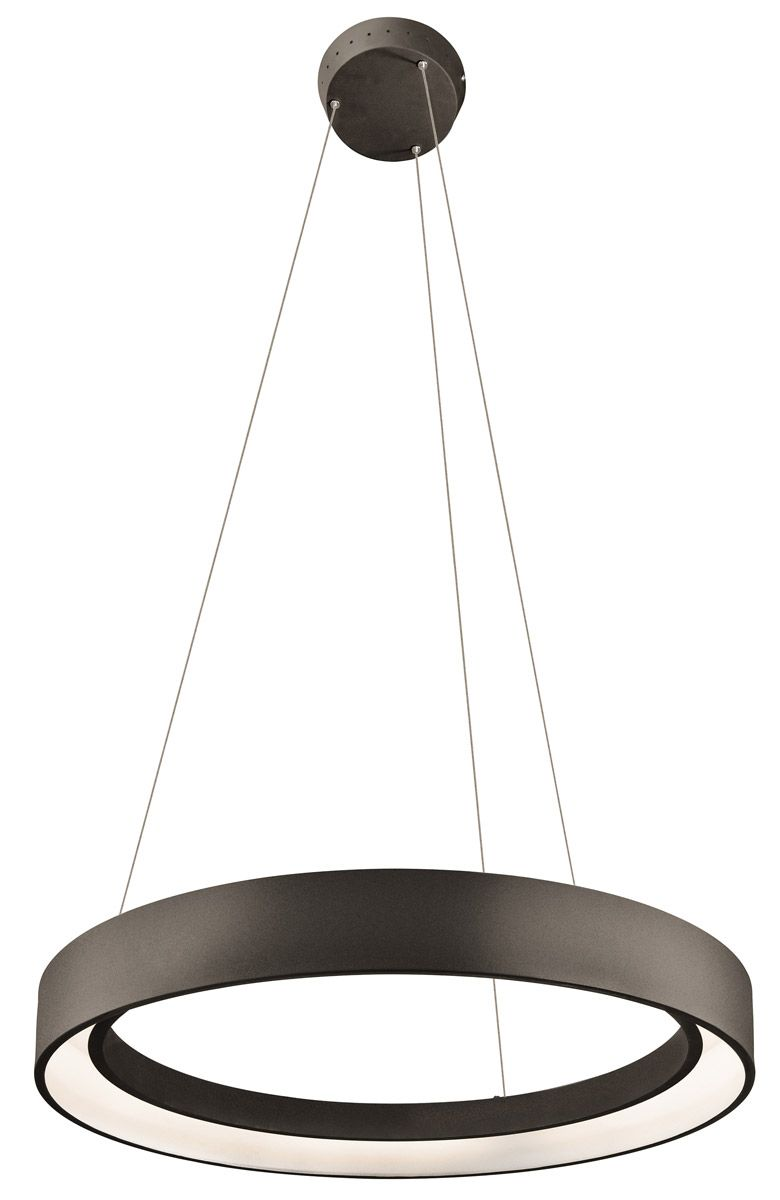 Elan 83455 Fornello Led 24 Inch Textured Black Chandelier Round