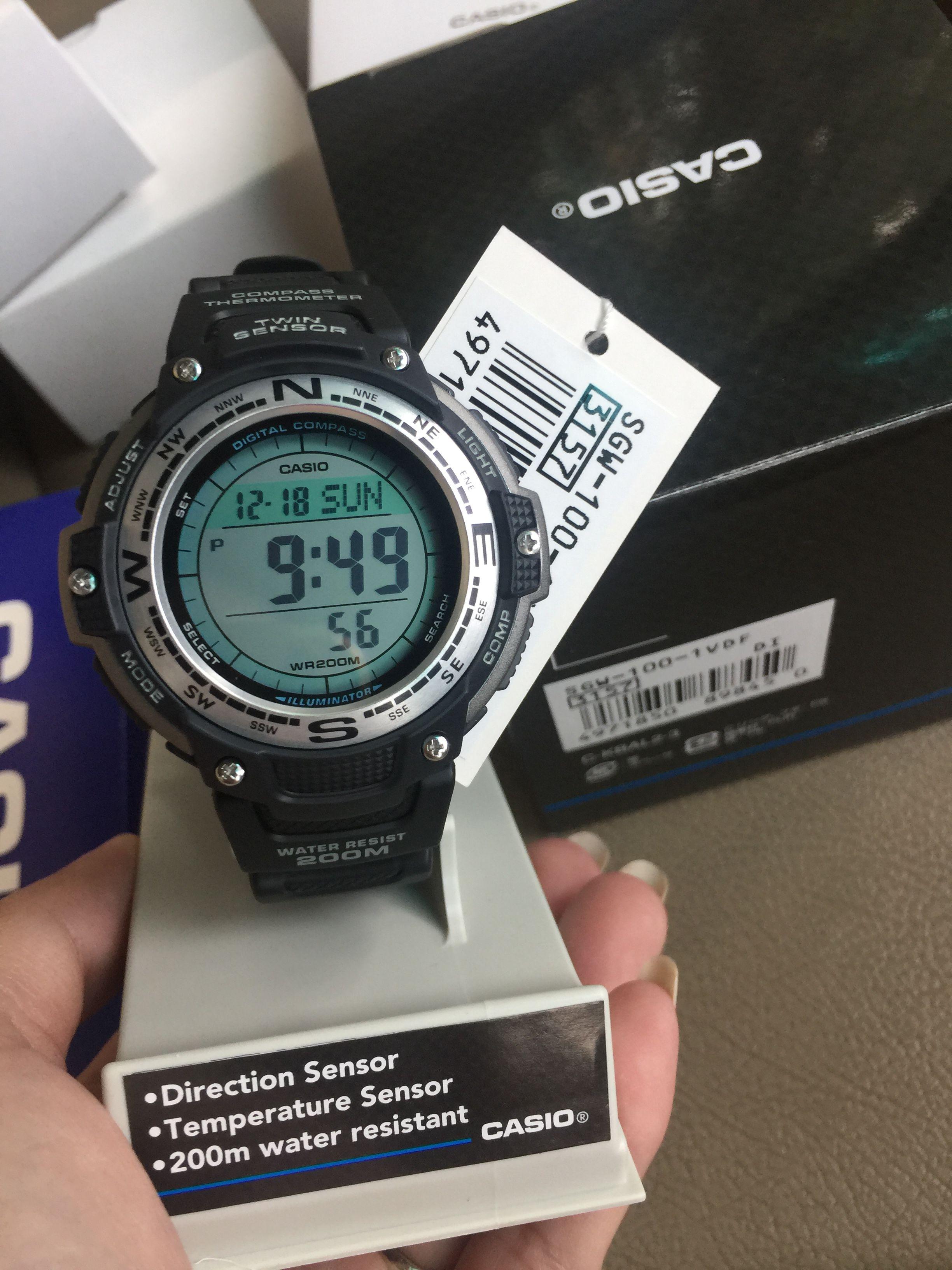 30ac5ffb831 นาฬิกาข้อมือ Casio Outgear รุ่น SGW-100-1VDR นาฬิกาข้อมือสำหรับผู้ชาย