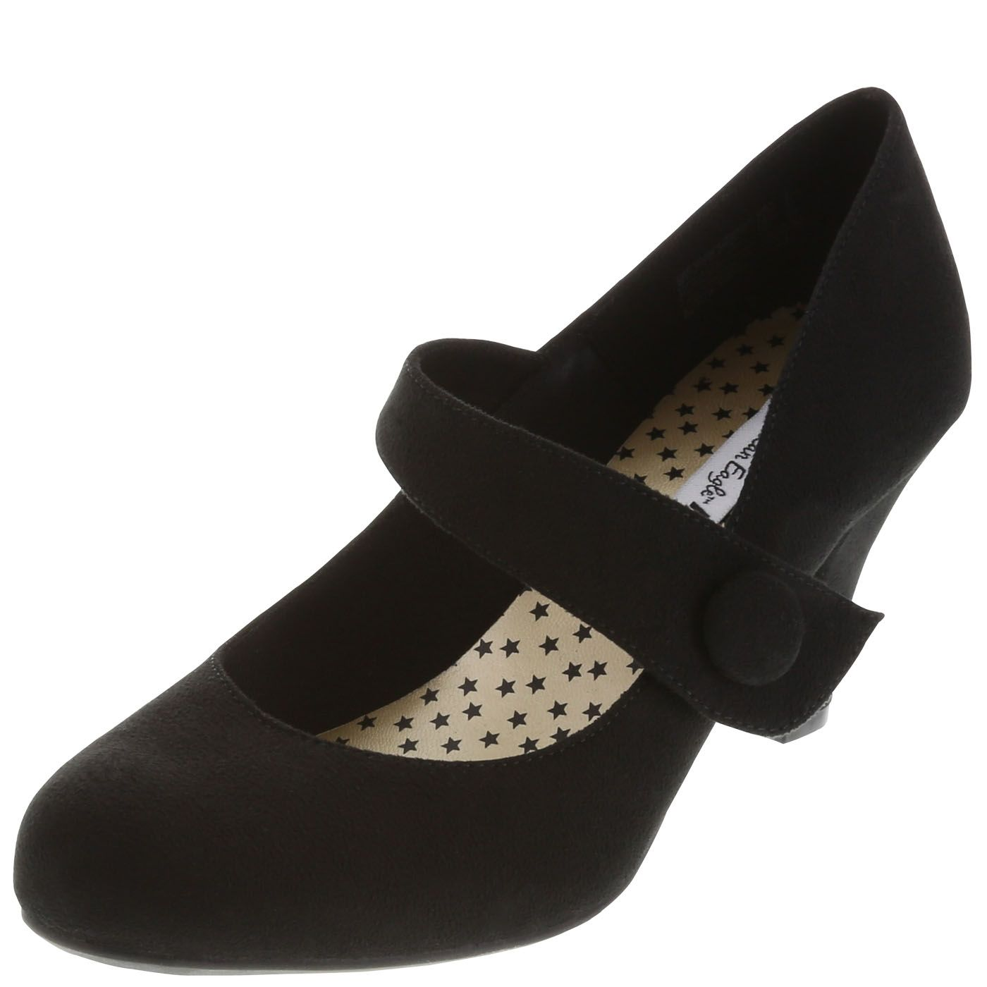 Women's Kim Button Mary Jane | Black suede, Mary janes and Style scrapbook