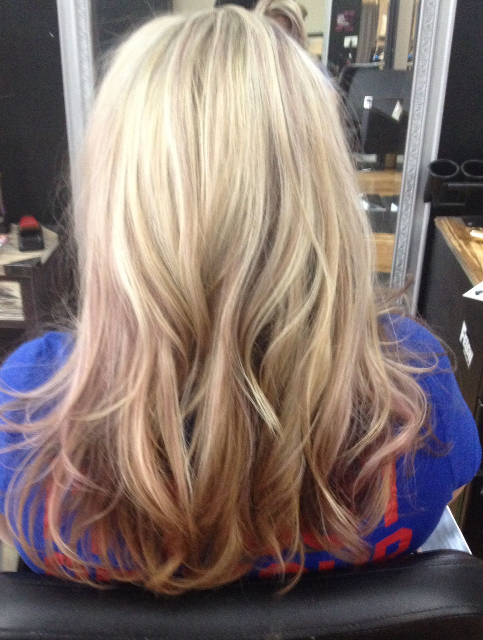 Blonde Highlights With Dark Brown Purple Tones No Filter Hair I