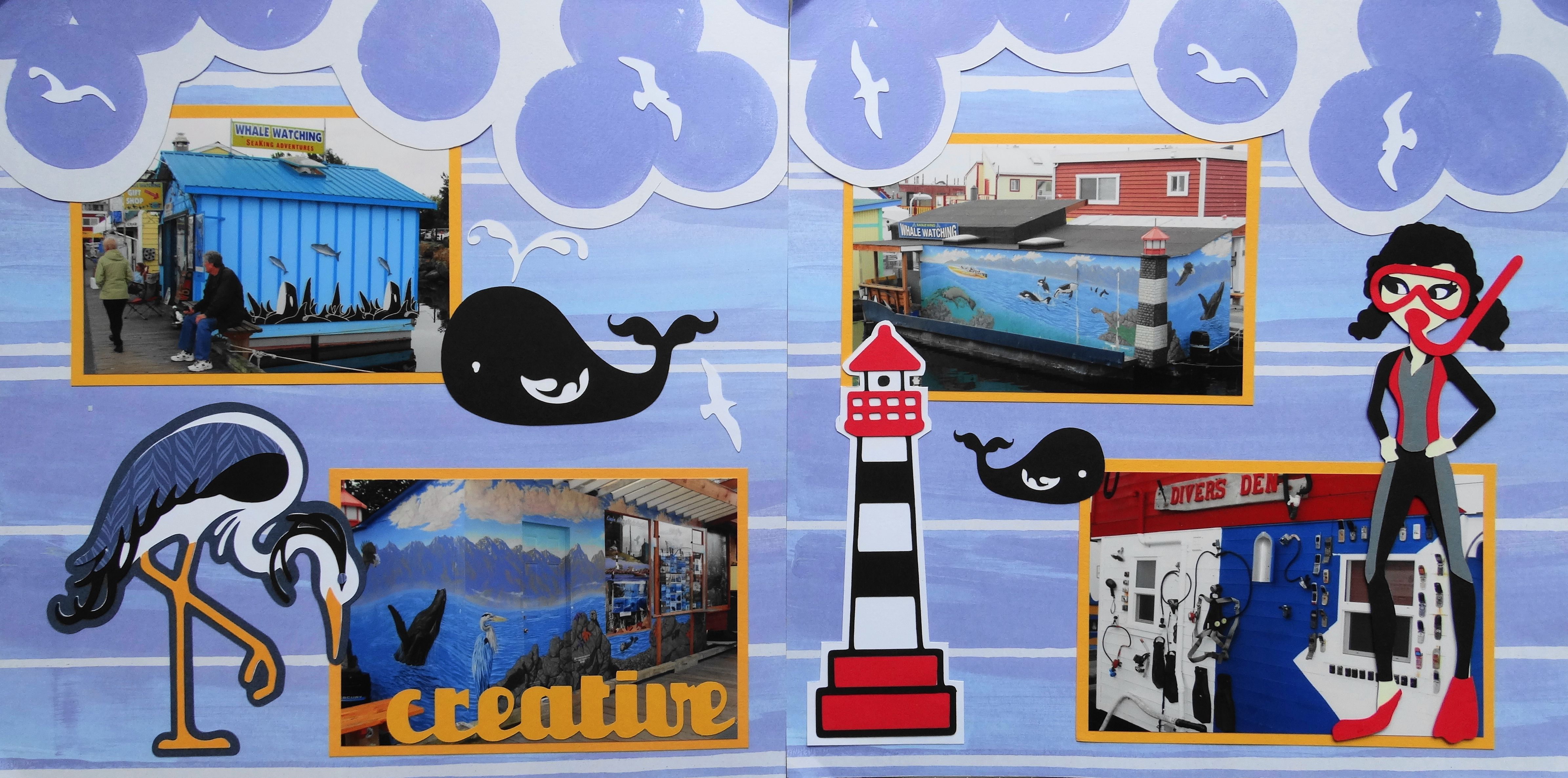 How to scrapbook a road trip - Scrapbook Page Creative Float Homes In Victoria Bc 2 Page Road Trip Layout