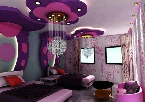 125 gro artige ideen zur kinderzimmergestaltung for Girl bedroom ideas purple